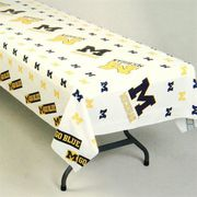 Rico University of Michigan Heavy Duty Plastic Table Cloth