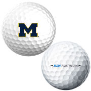 Nike University of Michigan RZN Tour Platinum Golf Ball Sleeve (Set of 3)