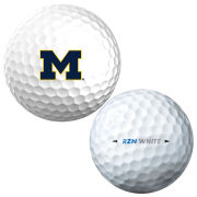 Nike Golf University of Michigan RZN Speed White Golf Ball Sleeve (Set of 3)