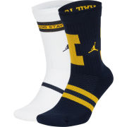 Jordan University of Michigan Football Home and Away Legacy Crew Socks [2 Pack]