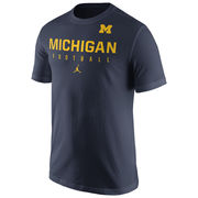 Jordan University of Michigan Football Navy Practice Tee