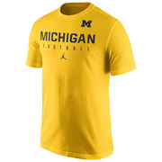 Jordan University of Michigan Football Yellow Practice Tee