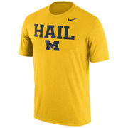 Nike University of Michigan Yellow Dri-FIT Legend HAIL Tee