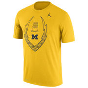 Jordan University of Michigan Football Yellow Dri-FIT Legend Icon Tee