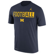 Jordan University of Michigan Football Navy Dri-FIT Legend FootbALL Tee