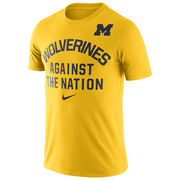 Nike University of Michigan Yellow Wolverines Against The Nation Tee