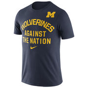 Nike University of Michigan Navy Wolverines Against The Nation Tee
