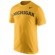 Nike University of Michigan Yellow Basic Tee