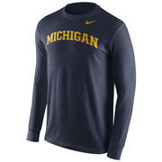 Nike University of Michigan Navy Long Sleeve Basic Tee