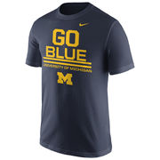 Nike University of Michigan Navy ''Go Blue'' Tee
