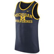 Nike University of Michigan Navy Team Tank Top