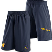 Jordan University of Michigan Football Navy Speed Vent Shorts