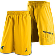 Jordan University of Michigan Football Yellow Speed Vent Shorts