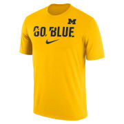 Nike University of Michigan Yellow Dri-FIT Legend ''Go Blue'' Ignite Tee