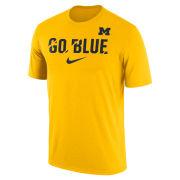 Nike University of Michigan Yellow Dri-FIT Legend ''Go Blue'' Ignite Tee