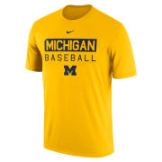 Nike University of Michigan Baseball Yellow Dri-FIT Legend Team Issue Tee