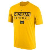 Nike University of Michigan Baseball Yellow Dri-FIT Legend Team Issue Tee