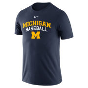 Nike University of Michigan Baseball Navy Logo Tee