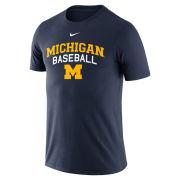 Nike University of Michigan Baseball Navy Logo Tee