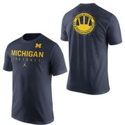 Jordan University of Michigan Football ''Signing of the Stars'' Navy Practice Tee