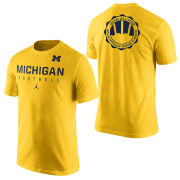 Jordan University of Michigan Football ''Signing of the Stars'' Yellow Practice Tee
