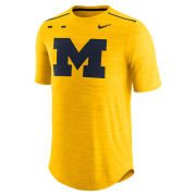 Nike University of Michigan Football Yellow Players DNA Breathe Dri-FIT Top