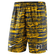Nike University of Michigan Navy/Yellow Shield Performance Shorts