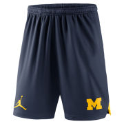 Jordan University of Michigan Navy Knit Mesh Short