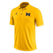 Jordan University of Michigan Football Yellow Early Season Dri-FIT Polo