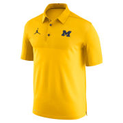 Jordan University of Michigan Football Maize Elite Dri-FIT Polo