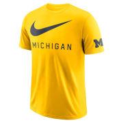 Nike University of Michigan Maize DNA ''Big Swoosh'' Dri-FIT Cotton Tee