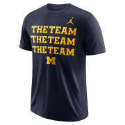 Jordan University of Michigan Football Navy Jordan University of Michigan Football Navy ''The Team'' Tee