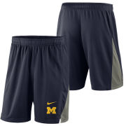 Nike University of Michigan Navy Franchise Mesh Shorts