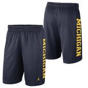 Jordan University of Michigan Football Navy Rise Dri-FIT Mesh Shorts