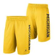 Jordan University of Michigan Football Maize Rise Dri-FIT Mesh Shorts