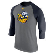 Nike University of Michigan College Vault Wolverine Triblend Raglan Sleeve Tee
