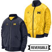 Jordan University of Michigan Football Reversible MA-1 Bomber Jacket