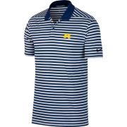 Nike Golf University of Michigan Navy/White Victory Stripe Polo