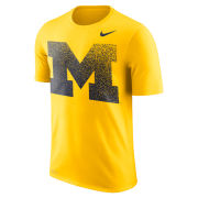 Nike University of Michigan Maize ''Fade'' Dri-FIT Legend Tee