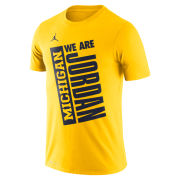 Jordan University of Michigan Maize ''We Are Jordan'' Dri-FIT Cotton Tee