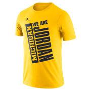 Jordan University of Michigan Maize ''We Are Jordan'' Dri-FIT Cotton Tee