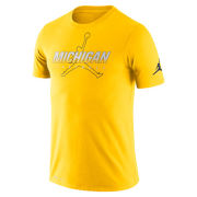 Jordan University of Michigan Football Maize Dri-FIT Cotton Facility Tee