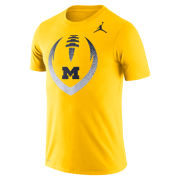 Jordan University of Michigan Football Maize Dri-FIT Cotton Icon Tee
