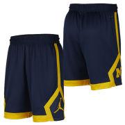 Jordan University of Michigan Football Navy Knit Dri-FIT Shorts