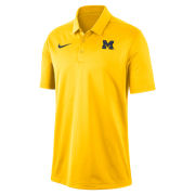 Nike University of Michigan Maize Franchise Dri-FIT Polo