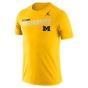 Jordan University of Michigan Football Maize Dri-FIT Legend Sideline Tee