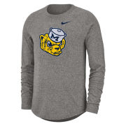 Nike University of Michigan Marled Heather Gray College Vault Wolverine Long Sleeve Raglan Tee