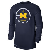 Jordan University of Michigan Basketball Navy Dri-FIT Legend Key 2.0 Long Sleeve Tee