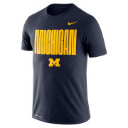 Nike University of Michigan Navy Logo ''Michigan'' Dri-FIT Legend Tee