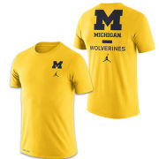 Jordan University of Michigan Football Maize Dri-FIT Cotton DNA Tee